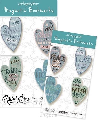 Magnetic bookmark love peace faith hope