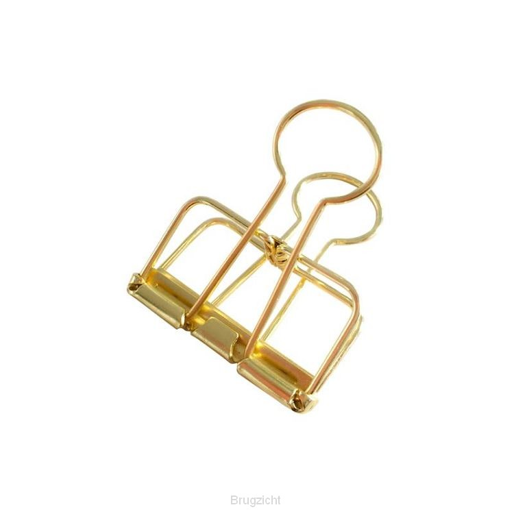 Binder clips gold M (4 st)