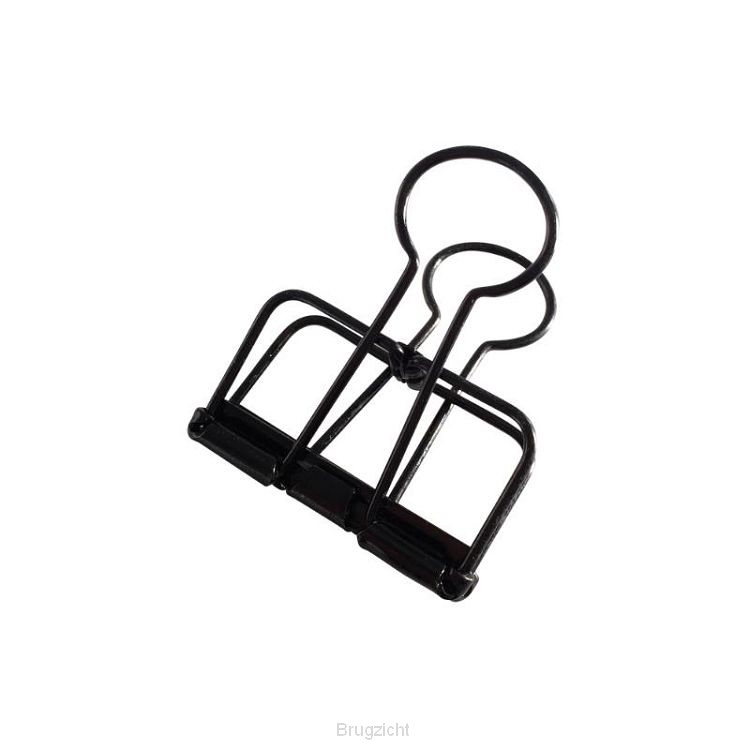 Binder clips blackM (4 st)