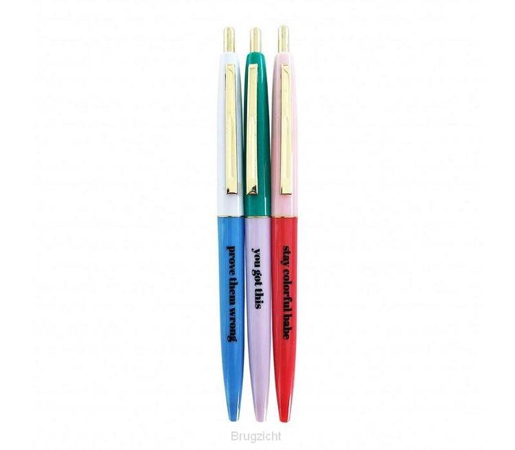 Stay colorful ballpen set