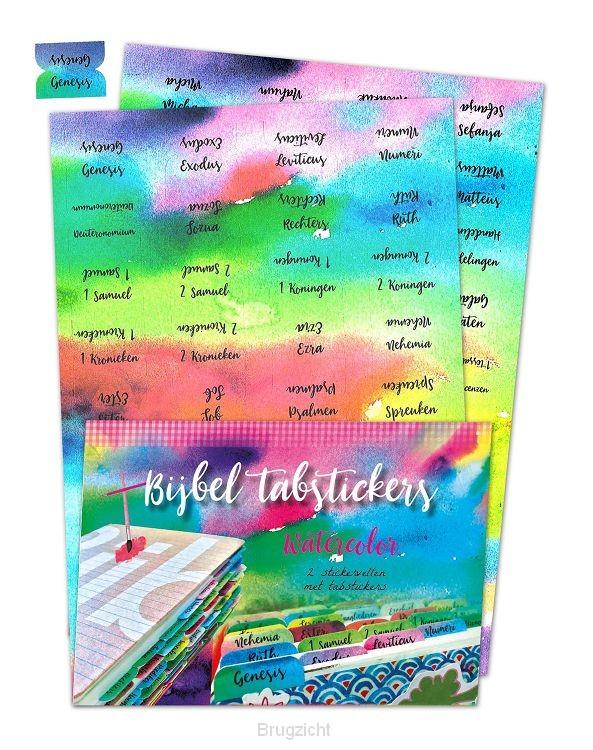 Bijbel tabstickers Watercolor