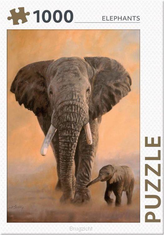 Elephants - puzzel 1000 stukjes