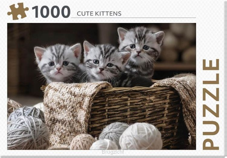 Cute Kittens - puzzel 1000 st