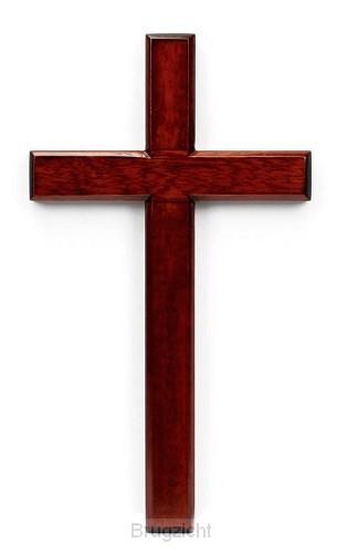 Kruis hang 20cm mahoniehout