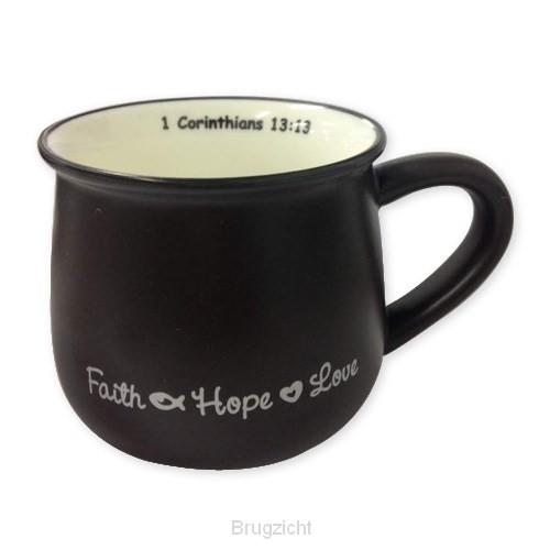 Mug faith hope love black