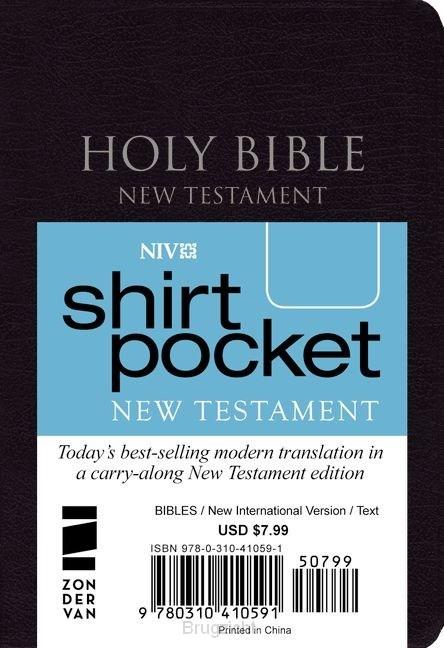 Shirt Pocket New Testament Black imit