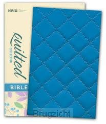 Quilted Coll Compact Bible bleuberry