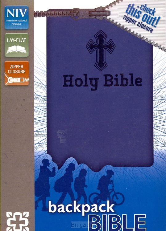 NIV Backpack Bible Blue duo-tone Zipper
