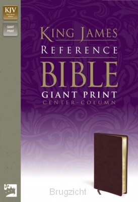 Giant print Center Column Ref Bible burg