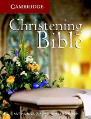 Christening Bible Cloth White