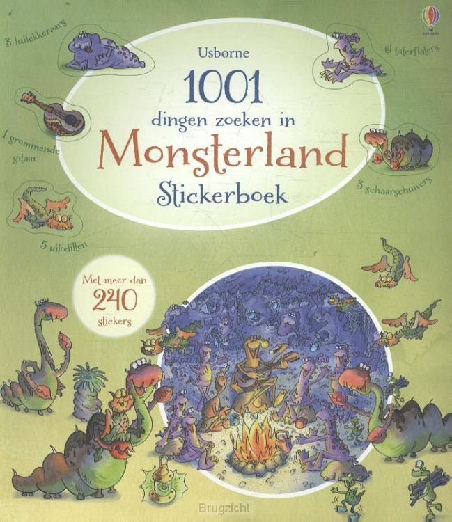 1001 dingen zoeken in monsterland - stickerboek