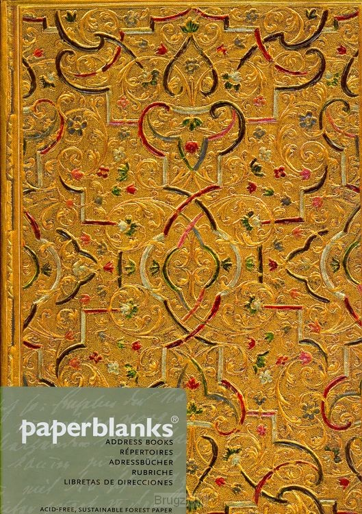 Adress Book Gold Inlay midi