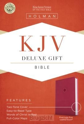 KJV deluxe gift bible pink leathertouch