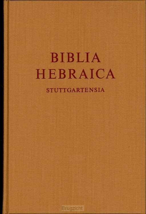 Bijbel BV Hebreeuws Biblica Hebraica Stu