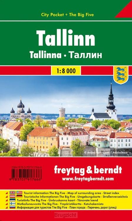 Tallinn, Stadtplan 1:10.000, City Pocket + The Big Five