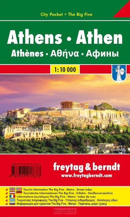 Athen, Stadtplan 1:10.000, City Pocket + The Big Five