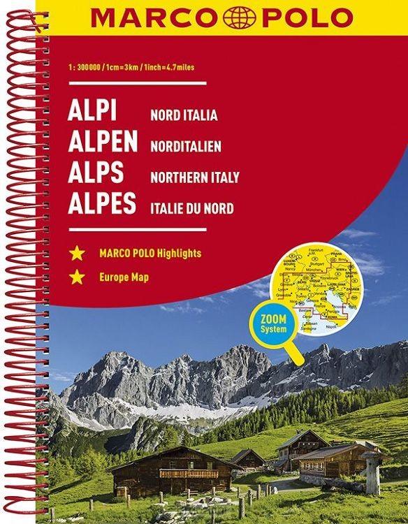 Alpen - Noord Italië Wegenatlas Marco Polo