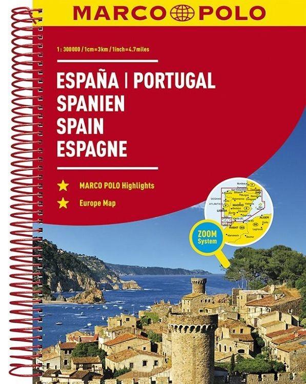 Spanje - Portugal Wegenatlas Marco Polo