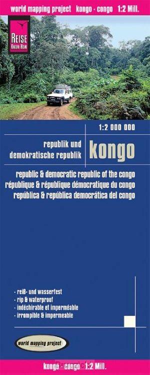 Reise Know-How Landkarte Kongo (1:2.000.000): Republik und Demokratische Republik Kongo
