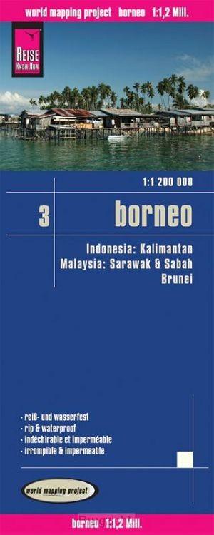 Reise Know-How Landkarte Borneo 1 : 1.200.000. Kalimantan, Sabah & Sarawak, Brunei