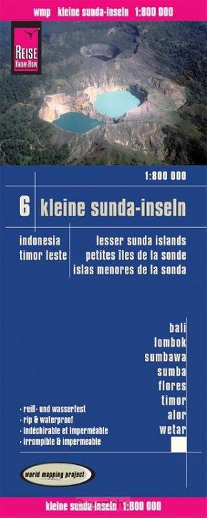 Reise Know-How Landkarte Kleine Sunda-Inseln(1:800.000) - Bali, Lombok, Sumbawa, Sumba, Flores, Timor, Alor, Wetar -  Karte Indonesien 6