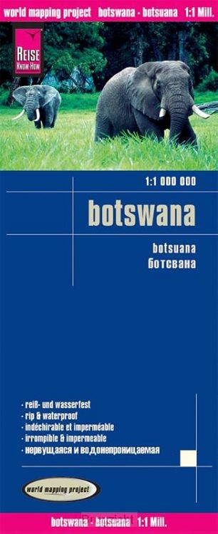 Reise Know-How Landkarte Botswana 1 : 1.000.000