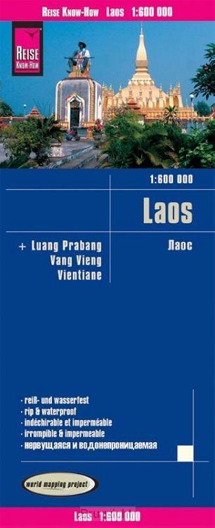 Reise Know-How Landkarte Laos 1 : 600.000 mit Luang Prabang, Vang Vieng, Vientiane