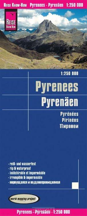 Reise Know-How Landkarte Pyrenäen 1 : 250 000