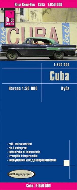 Reise Know-How Landkarte Cuba 1 : 650.000 mit Havanna 1 : 50.000