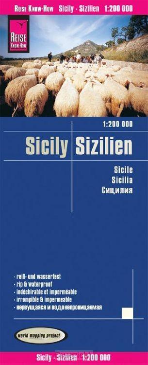 Reise Know-How Landkarte Sizilien 1 : 200.000