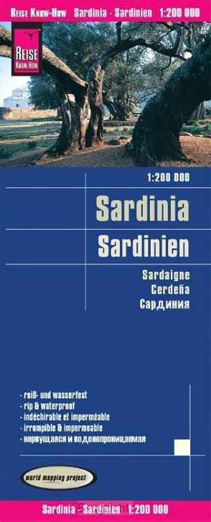 Reise Know-How Landkarte Sardinien 1 : 200.000
