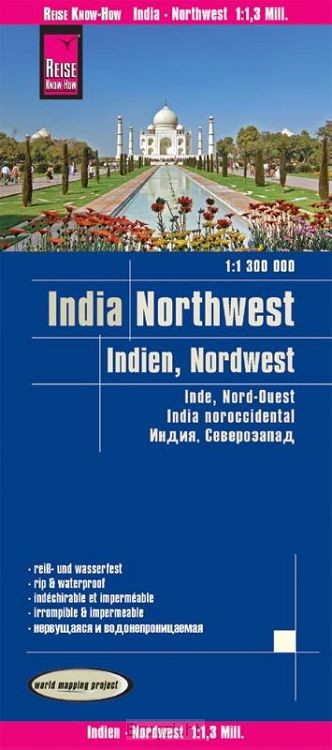 Reise Know-How Landkarte Indien, Nordwest 1 : 1.300.000