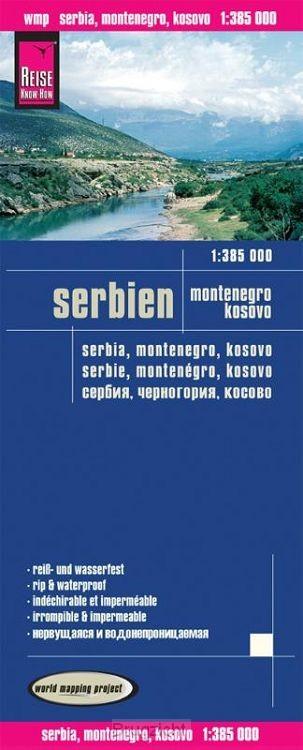 Reise Know-How Landkarte Serbien, Montenegro, Kosovo 1 : 385.000