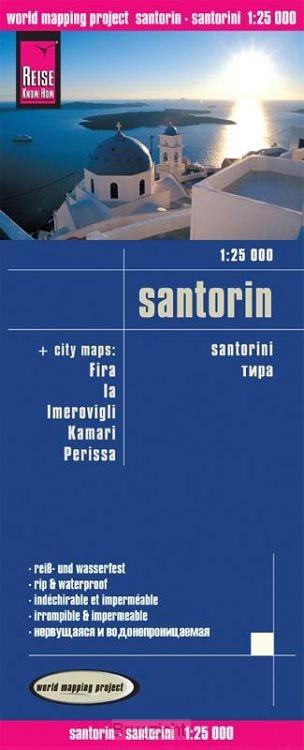 Reise Know-How Landkarte Santorin 1 : 25 000