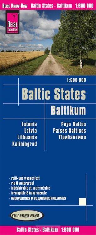 Reise Know-How Landkarte Baltikum 1 : 600.000 : Estland, Lettland, Litauen und Region Kaliningrad