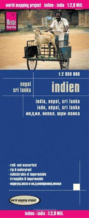 Reise Know-How Landkarte Indien (1:2.900.000) mit Nepal und Sri Lanka