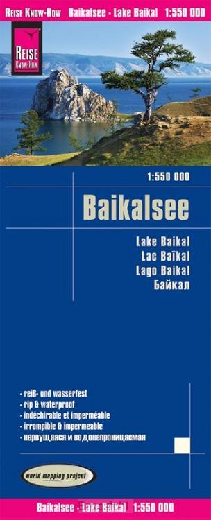 Reise Know-How Landkarte Baikalsee 1:550.000
