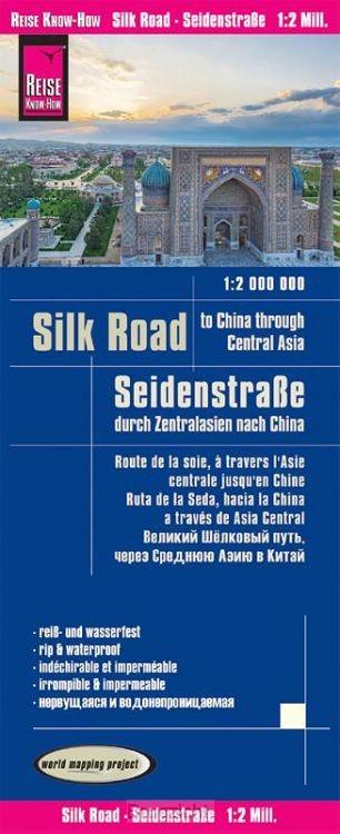 Reise Know-How Landkarte Seidenstraße  (1:2.000.000): Durch Zentralasien nach China