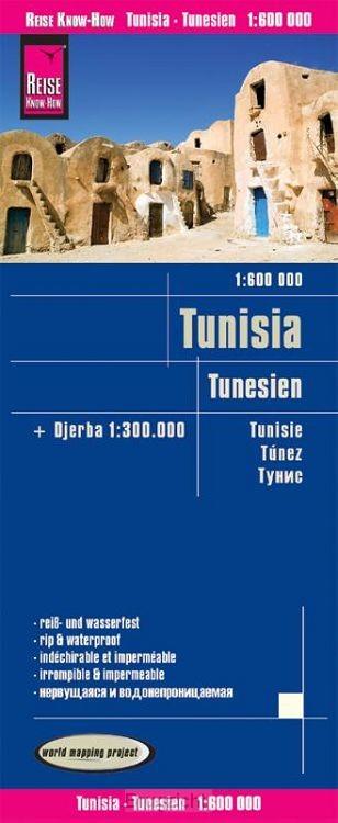 Reise Know-How Landkarte Tunesien (1:600.000) mit Djerba (1:300.000)