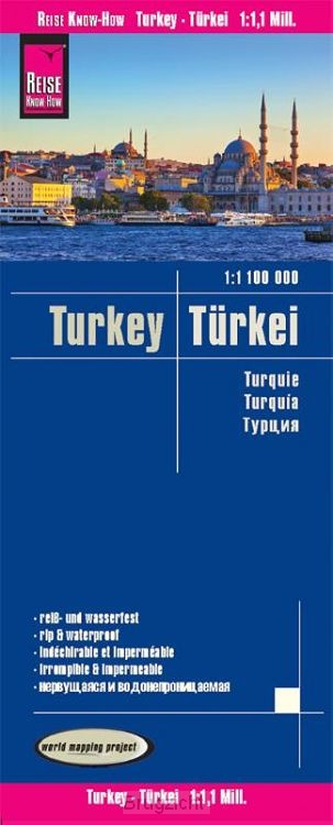 Reise Know-How Landkarte Türkei (1:1.100.000)