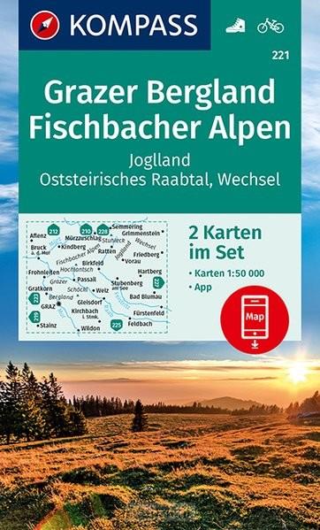 KOMPASS Wanderkarte 221 Grazer Bergland, Fischbacher Alpen