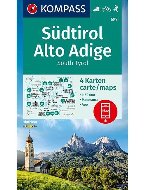 KOMPASS Wanderkarte Südtirol, Alto Adige, South Tyrol 1:50 000