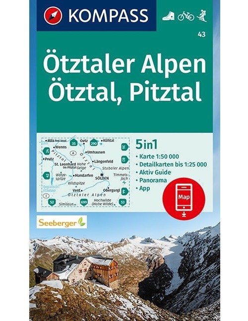 Kompass WK43 Ötztaler Alpen, Ötztal