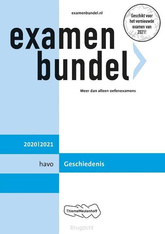 Examenbundel / havo Geschiedenis 2020/2021