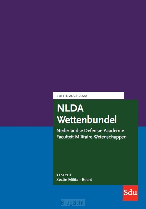 NLDA Wettenbundel. Editie 2021-2022
