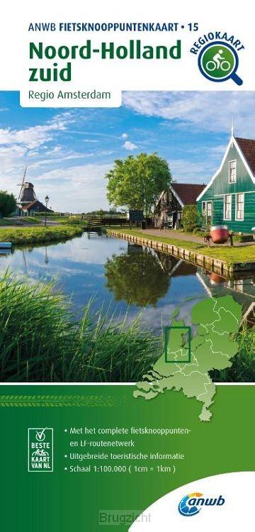 Fietsknooppuntenkaart Noord-Holland zuid 1:100.000