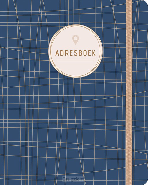 Adresboek (groot) - Dark Blue