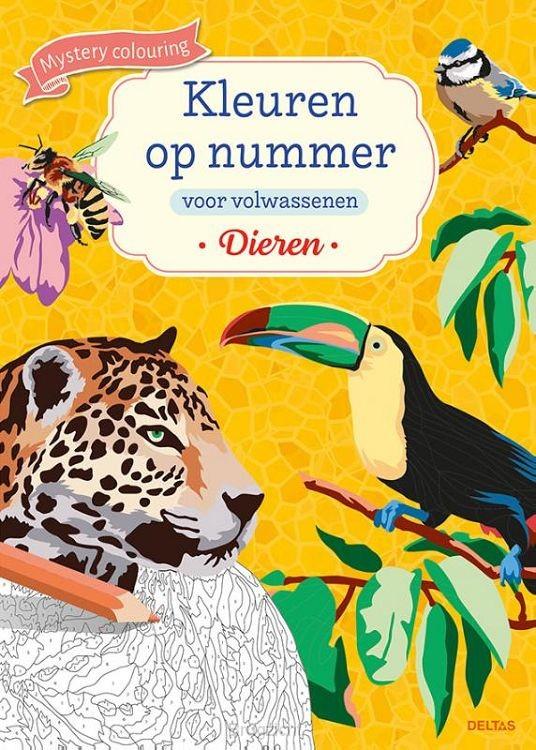 Kleuren op nummer voor volwassenen Dieren