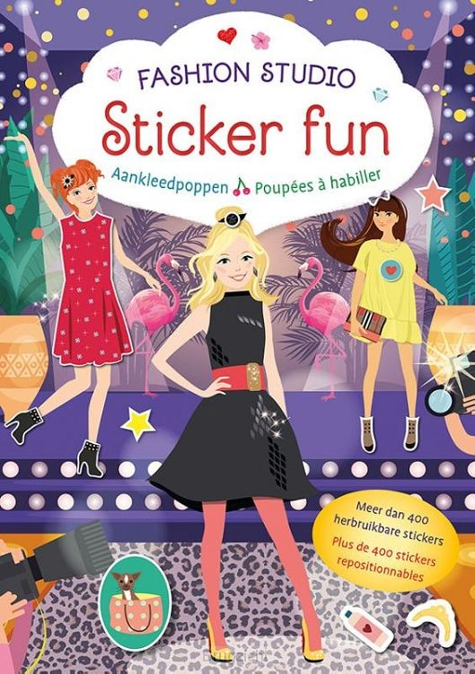Fashion Studio Sticker Fun - Aankleedpoppen / Fashion Studio Sticker Fun - Poupées à habiller