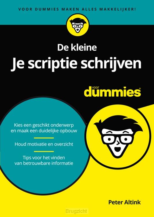 De kleine Je scriptie schrijven voor Dummies